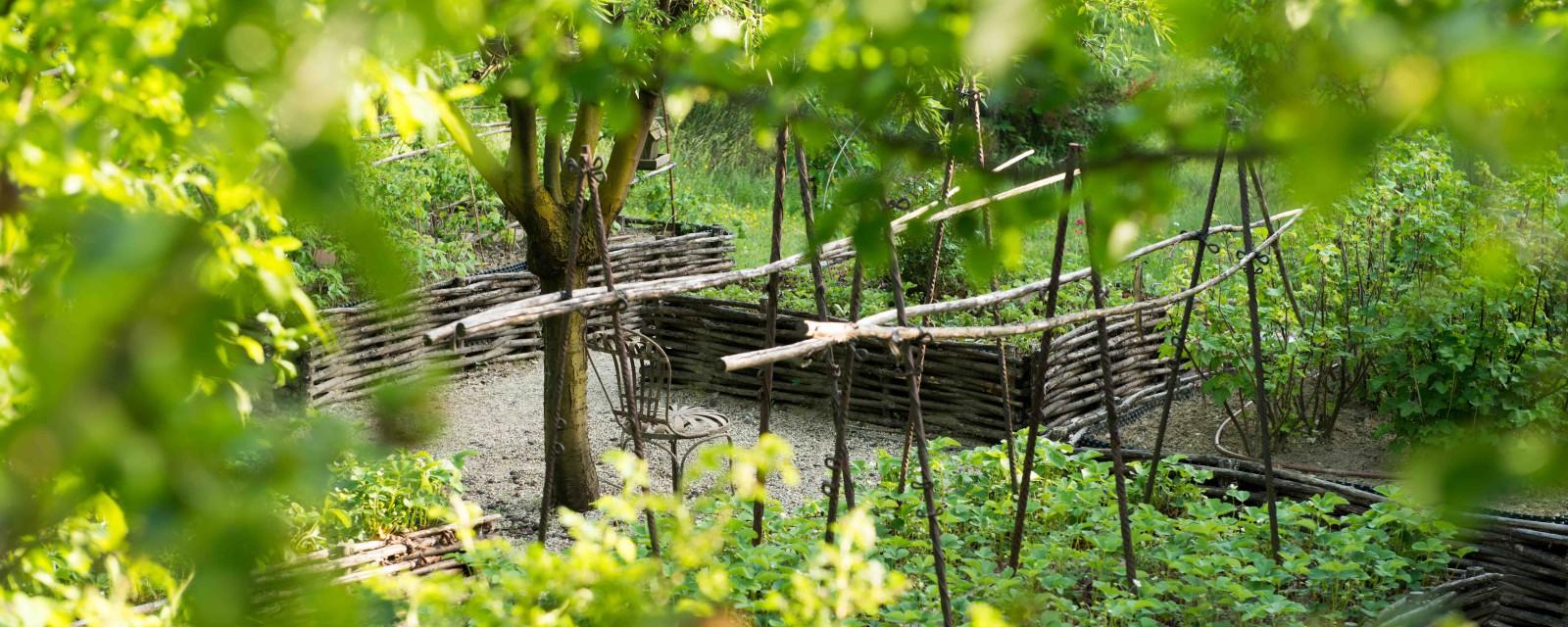Jardin médiéval maison hotes
