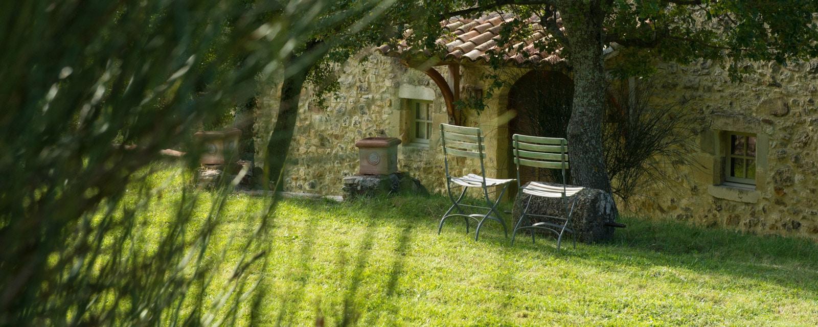 Jardin maison d'hôtes Le Domaine du Roc