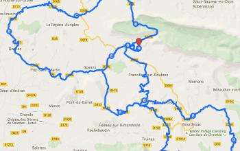 Carte Interactive la Drôme en Vélo