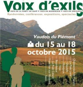 Voix Exils 2015 Page Garde